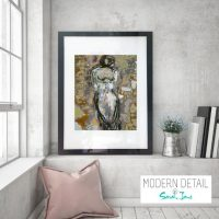 Glass Print with Modern Art in metallic colours from Modern Detail By Sarah Jane - Anonymous XXId