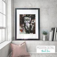 Glass Print with Modern Art of a woman from Modern Detail By Sarah Jane - Anonymous Ib