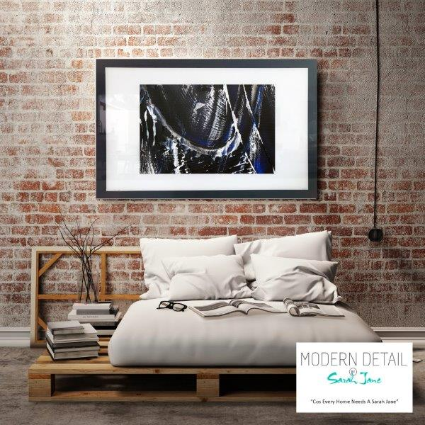 Abstract Art Print for the bedroom By Artist Sarah Jane - Anonymous IX