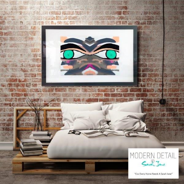 Abstract Art Print for the bedroom By Artist Sarah Jane - Being Watched Ifff