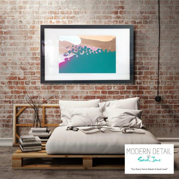 Abstract Art Print for the bedroom By Artist Sarah Jane - Being Watched VIIIa