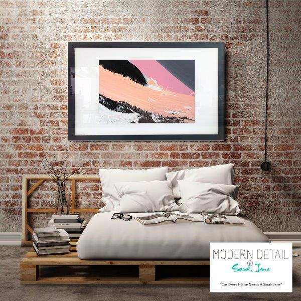Abstract Art Print for the bedroom By Artist Sarah Jane - Being Watched XXa