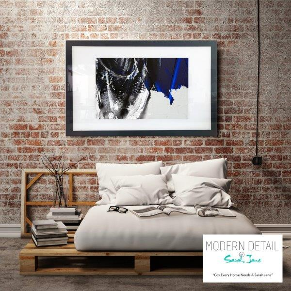 Abstract Art Print for the bedroom in dark colour tones By Artist Sarah Jane - Anonymous III