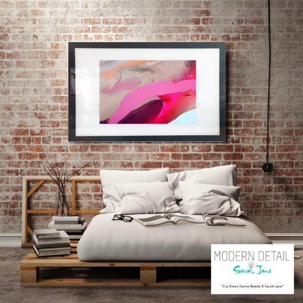 Abstract Art Print for the bedroom in warm tones By Artist Sarah Jane - Being Watched II
