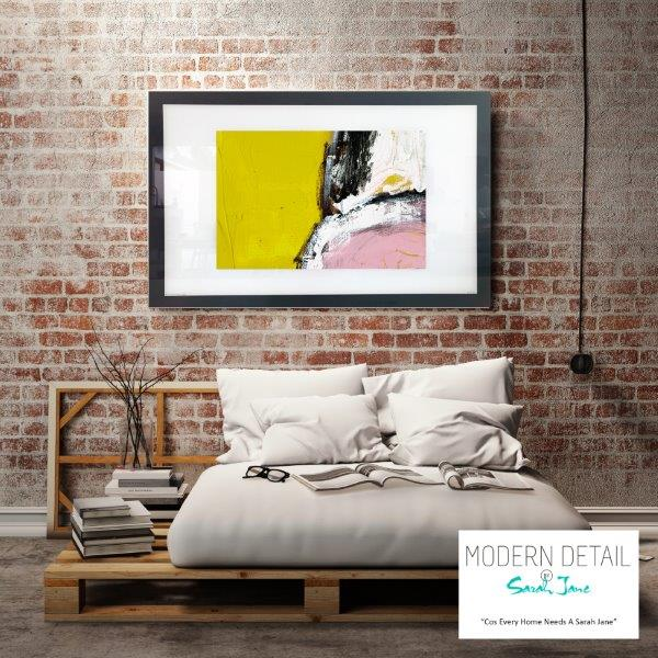 Abstract Art Print for the bedroom on glass By Artist Sarah Jane - Cozzie VIIId