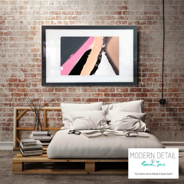Abstract Art Print for the bedroom with soft colours By Artist Sarah Jane - Being Watched XVIIIa