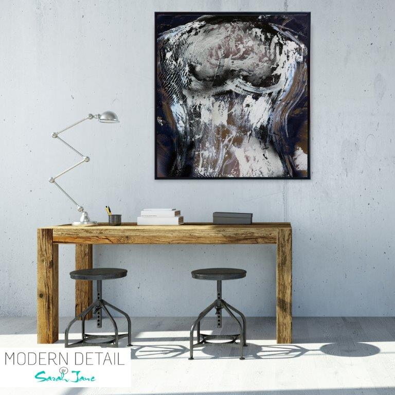 Abstract Art Print for the study By Artist Sarah Jane - Anonymous IIa