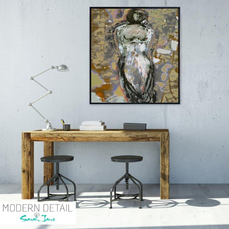 Abstract Art Print of a woman for the study By Artist Sarah Jane - Anonymous XXId