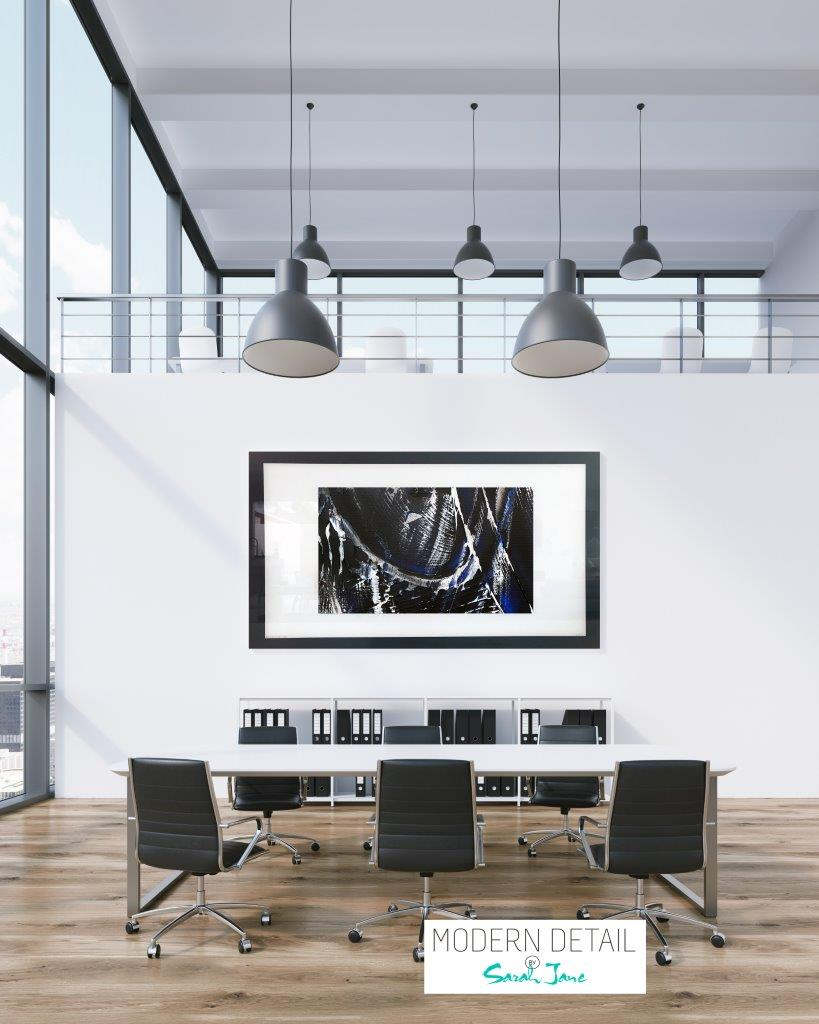 Abstract Art for a boardroom from Modern Detail By Sarah Jane - Anonymous IX