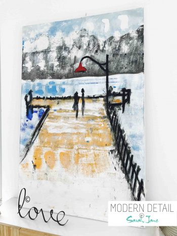 Abstract Painting By Sarah Jane called Boardwalk - Modern Detail By Sarah Jane