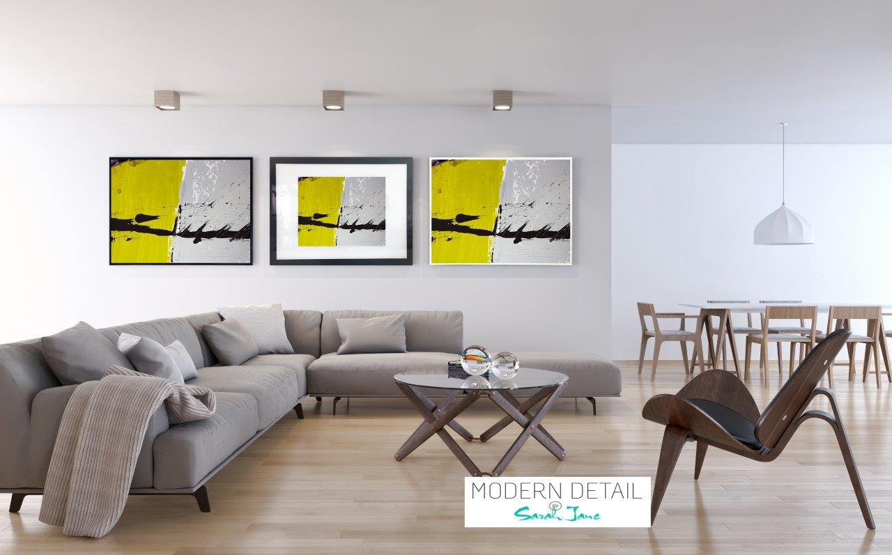 Abstract Print on Glass By Sarah Jane with choice of border and size - Cozzie VIIb
