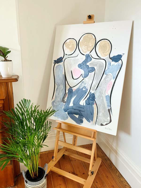 adelaide art studio - bodyline xi paintin by sarah jane artist - abstract family