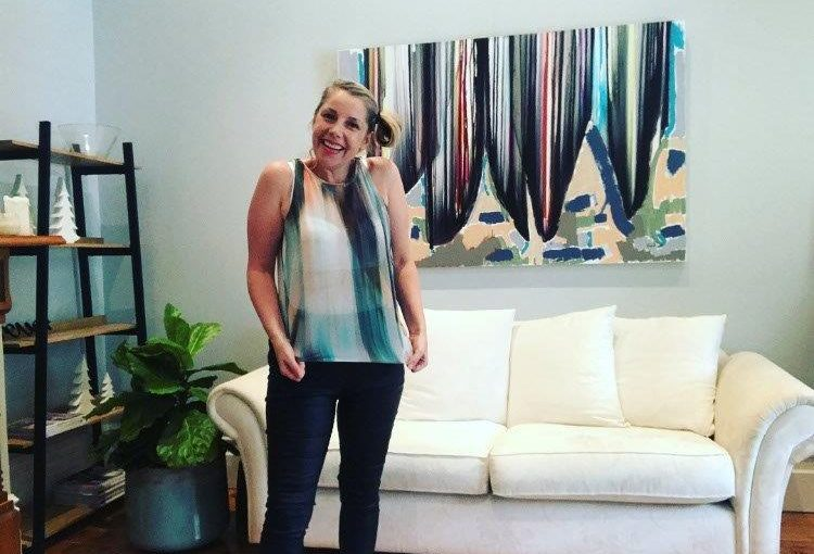 Adelaide Artist Sarah Jane gets colour inspiration from an Arthur Galan top