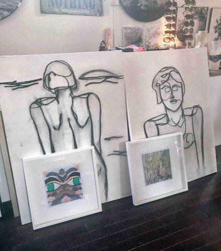 Abstract Artist Sarah Jane teams up with Homewares Shop BIMBO