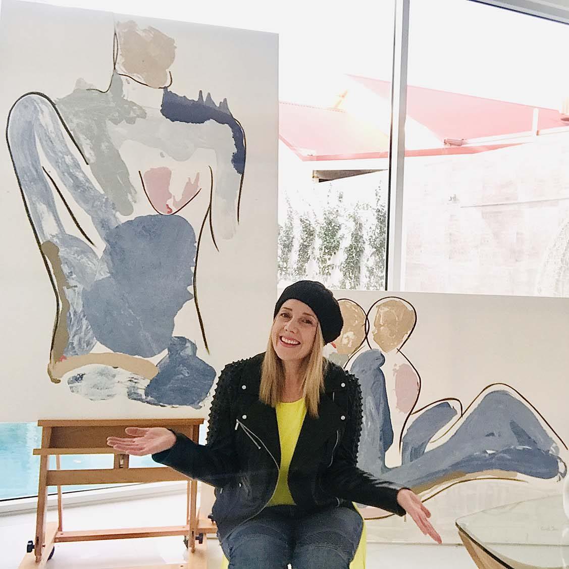 Art - People - Soft - Bodyline I and II - Sarah Jane Australian Artist