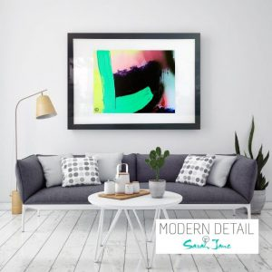 Art Print on Glass By Abstract Artist Sarah Jane from Modern Detail By Sarah Jane - Hidden Truth XI