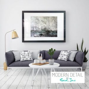 Art Print on Glass By Abstract Artist Sarah Jane from Modern Detail By Sarah Jane - Storm III