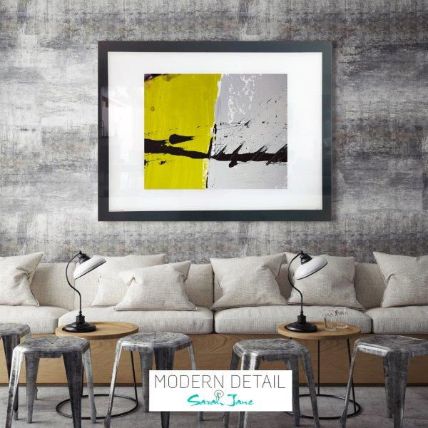 Art Print on Glass for a cafe or restaurant from Modern Detail By Sarah Jane - Cozzie VIIb