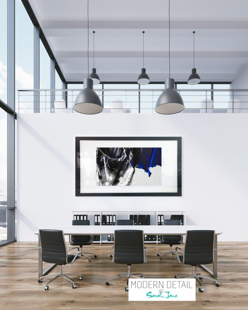 Art for a boardroom from Modern Detail By Sarah Jane - Anonymous III
