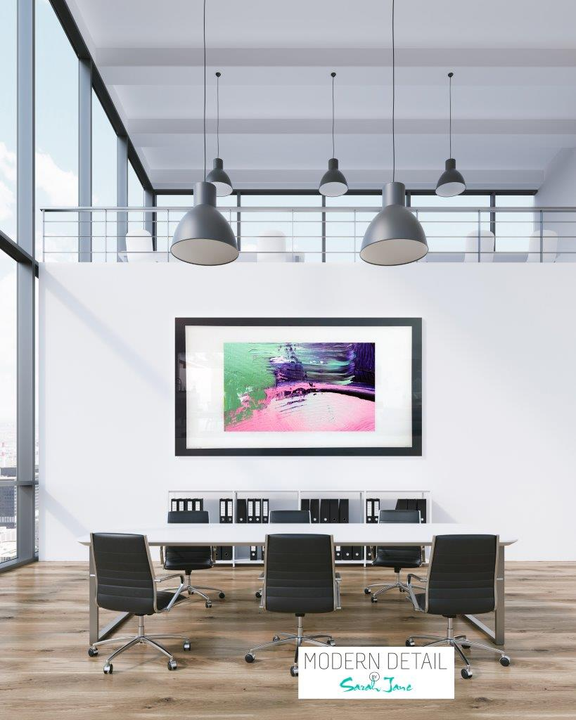 Art for a boardroom or office from Modern Detail By Sarah Jane - Colour me Happy IX
