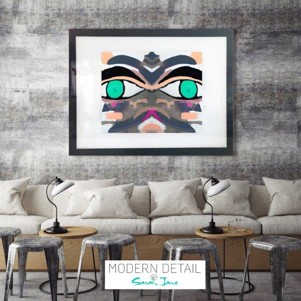 Art for a restaurant or cafe from Modern Detail By Sarah Jane - Being Watched Ifff