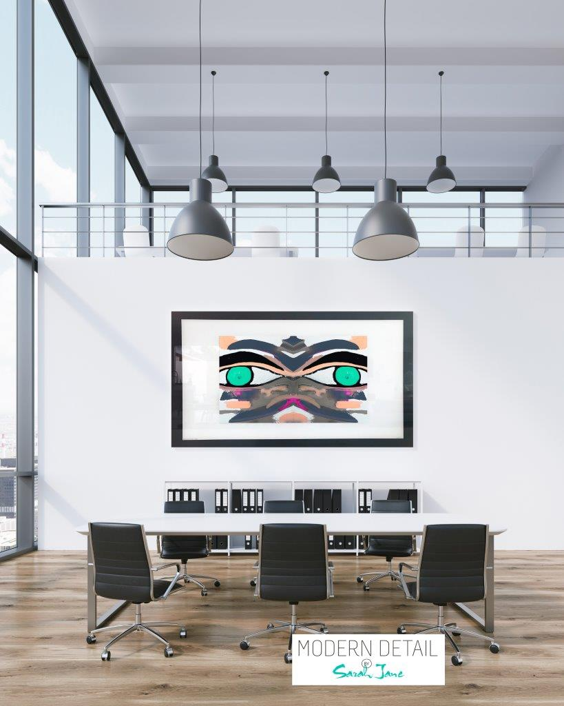 Art for the boardroom from Modern Detail By Sarah Jane - Being Watched Ifff