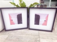 Beautiful Pink Prints in Frame - Hope IVa and Hope IVa inverted by Australian Artist sarah Jane