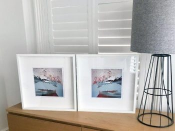 Beautiful abstract print in frame - Freedom IIIa and Freedom IIIa inverted By Sarah Jane Artist