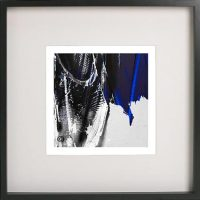 Black Framed Print with Abstract Art By Artist Sarah Jane - Anonymous III