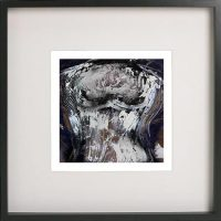 Black Framed Print with Abstract Art By Artist Sarah Jane - Anonymous IIa