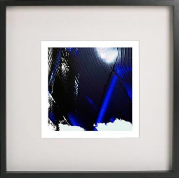 Black Framed Print with Abstract Art By Artist Sarah Jane - Anonymous VI