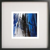 Black Framed Print with Abstract Art By Artist Sarah Jane - Anonymous XIV