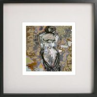 Black Framed Print with Abstract Art By Artist Sarah Jane - Anonymous XXId
