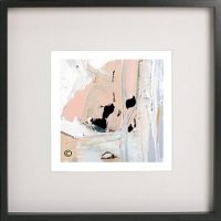 Black Framed Print with Abstract Art By Artist Sarah Jane - Beautiful Soul III