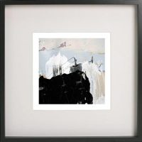 Black Framed Print with Abstract Art By Artist Sarah Jane - Beautiful Soul IX