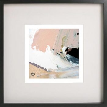 Black Framed Print with Abstract Art By Artist Sarah Jane - Beautiful Soul VII