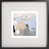 Black Framed Print with Abstract Art By Artist Sarah Jane - Beautiful Soul XI