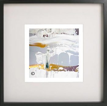 Black Framed Print with Abstract Art By Artist Sarah Jane - Beautiful Soul XIII