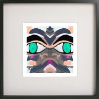 Black Framed Print with Abstract Art By Artist Sarah Jane - Being Watched Ifff