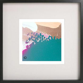 Black Framed Print with Abstract Art By Artist Sarah Jane - Being Watched VIIIa