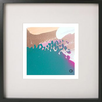 Black Framed Print with Abstract Art By Artist Sarah Jane - Being Watched VIIIa flipped horizontally