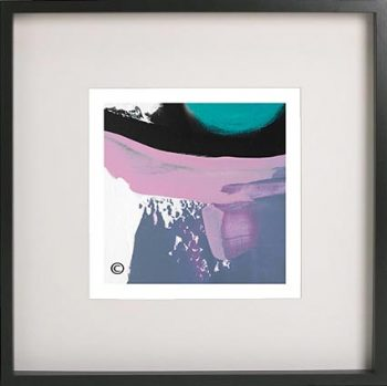 Black Framed Print with Abstract Art By Artist Sarah Jane - Being Watched XVIf