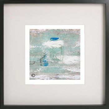 Black Framed Print with Abstract Art By Artist Sarah Jane - Boardwalk IIIe
