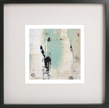 Black Framed Print with Abstract Art By Artist Sarah Jane - Boardwalk IIa