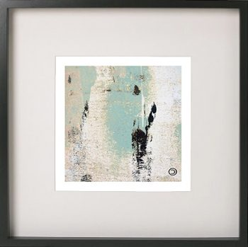 Black Framed Print with Abstract Art By Artist Sarah Jane - Boardwalk IIa flipped horizontally