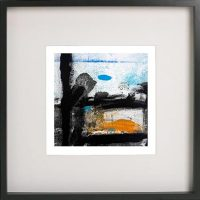 Black Framed Print with Abstract Art By Artist Sarah Jane - Boardwalk VIII