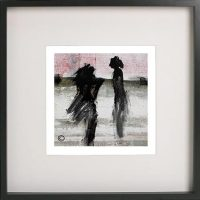 Black Framed Print with Abstract Art By Artist Sarah Jane - Boardwalk Ve