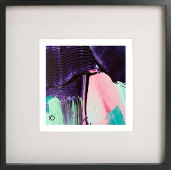 Black Framed Print with Abstract Art By Artist Sarah Jane - Colour me Happy X