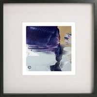 Black Framed Print with Abstract Art By Artist Sarah Jane - Colour me Happy XIIIe