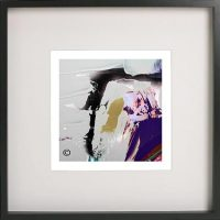 Black Framed Print with Abstract Art By Artist Sarah Jane - Colour me Happy XVId
